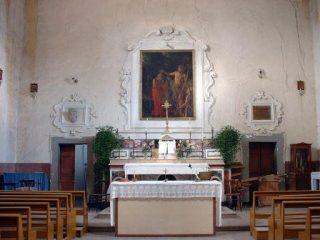 Il quadro nella sua antica collocazione sull'altare maggiore (Foto di Olga Annunziata)